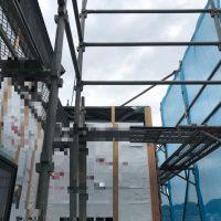 施工前① アルミ階段固定の為の補強下地についても、ハウスメーカーさんと綿密な打合せをしっかりと行いました。