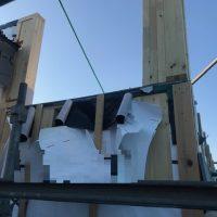 施工前② 手すりを固定する為の袖壁もハウスメーカーさんとの協力で造作してもらいました。