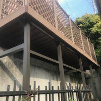 高さが約2mある為に既存擁壁への補強もしっかりと行いました。
