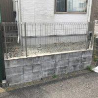 施工前① ブロック・フェンス囲われているデッドスペース